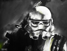 star wars stormtrooper on canvas art print andy baker painting choose size