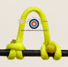 5 Pack Flo Yellow Release Bow String Nock D Loop Bowstring BCY #24