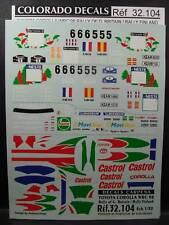 DECALS 1/32 TOYOTA COROLLA WRC 1998 PART 3 - CARPENA  32104