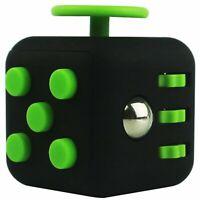 Fidget Cube Jeux Jouet Gadget Anti-stress pour Enfants et Adultes NOIR & VERT
