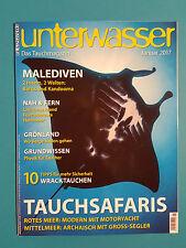Unterwasser Januar/01/2017 Das Tauchmagazin ungelesen 1A abs. TOP