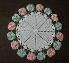 Vintage+Variegated+Green+Orange+Pansy+Edge+Crochet+Doily+11+1%2F2++Inches+Diameter