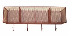 Wall Mounted Wire Kitchen Storage Baskets Red Metal Coat Clothes Hooks Hanger