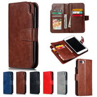 For iPhone 11 Pro MAX XR X 8 7 6 Plus Card Holder Leather Flip Wallet Case Cover