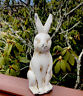 Old Look Bunny Rabbit  Ceramic Figurine Easter SPRING Home Decor Farmhouse