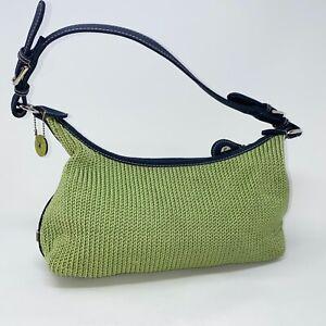 The Sak shoulder crocheted purse lime green zip closure 100002510 baguette bag