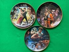 More details for star wars trilogy plates by morgan - hamilton collection