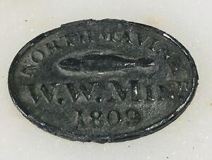 Scottish Communion token Shetland islands 1809 Northmavine