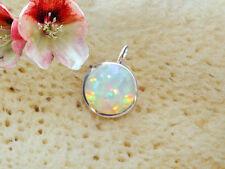 Anhänger mit Opal Triplette rund echt 925 Sterling Silber für Kette Schmuck BC33