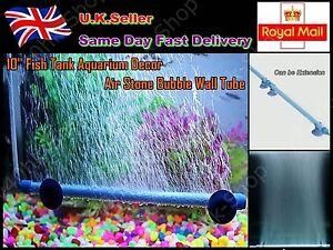 "10"" / 14"" Fish Tank Aquarium Decor Air Stone Bubble Wall Tube (BLUE)"