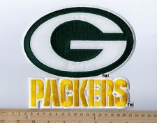 """Huge Green Bay Packers Logo Patch 6.5"""" high x 7.25"""" wide (sew or iron on)"""