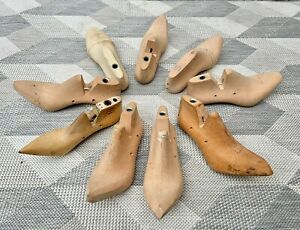 Collection of Wooden Shoe Lasts Molds