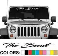 The Beast Script Windshield Decal Sticker UTV Turbo Truck Lift Mud Car Diesel