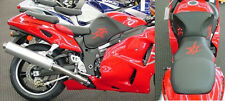 04 Suzuki RED Hayabusa Second Look Seat Covers / Logo Skins Embroidered 2004
