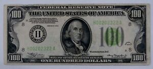 1934 - $100 Federal Reserve Note - Well Circulated