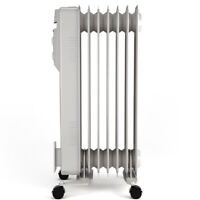 1500W Portable Electric Oil Filled Radiator Heater 7-Fin Safety Shut-Off  Easy
