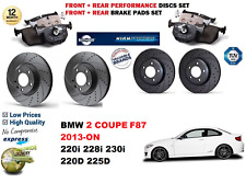 FOR BMW 2 F87 COUPE 12-ON FRONT REAR PERFORMANCE DRILLED BRAKE DISCS + PADS KIT