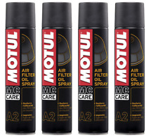 MOTUL A2 OLIO SPRAY FILTRO ARIA MOTO AIR FILTER OIL SPRAY 4 X 400 ml