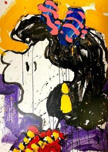 Tom Everhart - Glam Slam- Lithograph Hand Signed & Numbered Snoopy Peanuts