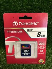 Brand New 8GB Transcend Ultimate SDHC CL10 Secure Digital Memory Card