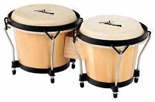 B-WARE XDrum Bongo Club Natur Percussion Bongos Schwarze Hardware Trommel Congas