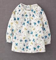 Mini Boden girls grey cotton bird print top new age baby - 3-4 years