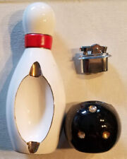 Vintage Ashtray & Lighter Bowling Pin & Ball