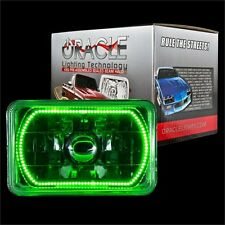 """ORACLE 4""""x6"""" Sealed Beam Single Headlight + ORACLE Pre-Installed Green SMD Halo"""
