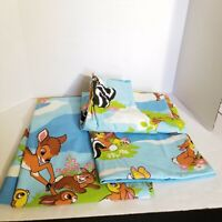 """Vintage Disney Bambi Curtain Panels Set of 2 Each Approx 24"""" x 62"""" Pleated"""