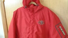 NFL San Francisco 49ers Red Puffy Winter XXL Coat Hooded Jacket NEW with Tags