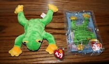 Set of Ty Beanie Babies and Teenie Beanie Babies Smoochy the Frog New with Tags