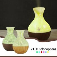 Ultrasonic Aroma Humidifier Essential Oil Diffuser LED Aromatherapy Air Purifier