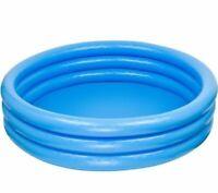Intex 3 Ring Crystal Blue Paddling Pool Kids Toddler Pool Children Play Pool