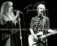 TOM PETTY AND STEVIE NICKS SIGNED AUTOGRAPH 8X10 RPT PHOTO STOP DRAGGIN MY HEART