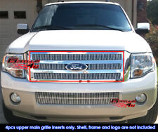Fits 2007-2014 Ford Expedition Billet Main Upper Grille Insert