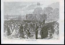 1869 Antique Print - LONDON FINSBURY PARK OPENING CELEBRATIONS (009B)