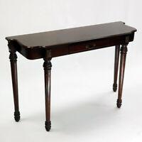 Tavolo consolle salotto in legno stile antico/classico forma elegante e cassetto