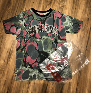 Supreme S/S14 Marbled Arc Logo Tee (DSWT)