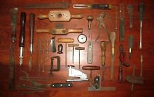 Vintage / Antique Tool Lot drill clamp divider bevel gauge