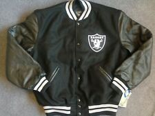 Vtg NWT Oakland Raiders letterman jacket new varsity la jersey 90s starter L XL