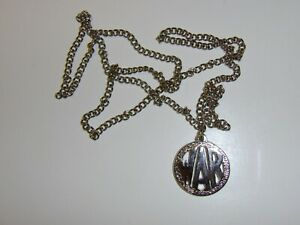 b2624 Vietnam GI WAR Necklace Pendant With Chain IR39A