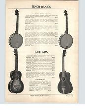 1927 PAPER AD Tiple 10 Strings Tenor Guitar Flat Back Mandolins