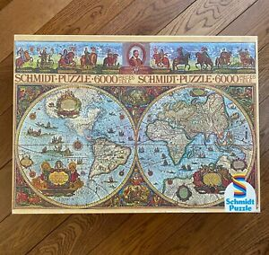 6000 Jigsaw Puzzle Schmidt HISTORIC MAP OF THE WORLD, Willem Blaeu