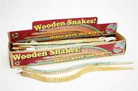 Children's Kids Wooden Swaying Bendy Jointed Large Snakes Retro Toy Party Gift!