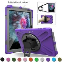 Hybrid Rugged Hard Tough Case Stand Cover For Microsoft Surface Pro 4 5 6 Tablet