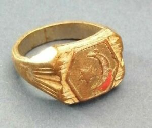 BEAUTIFUL MEDIEVAL BRONZE ISLAMIC RING ENGRAVED