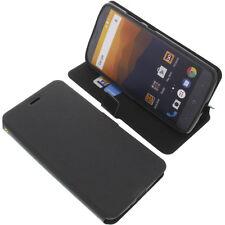 Funda para ZTE MAX XL N9560 Book Style Protectora de móvil libro negro