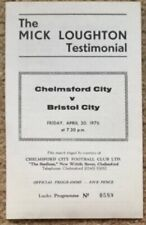 Chelmsford v Bristol City Loughton Testimonial Programme 30 Apr 1975-76