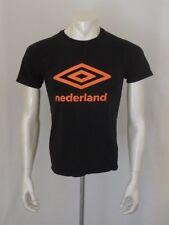 Umbro Nederland Small Black Cotton Short Sleeve T Shirt