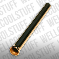 GOLD SNORTING TUBE , GOLD METAL FLARED END SNUFF TUBE , SNUFF SNORTING TUBE